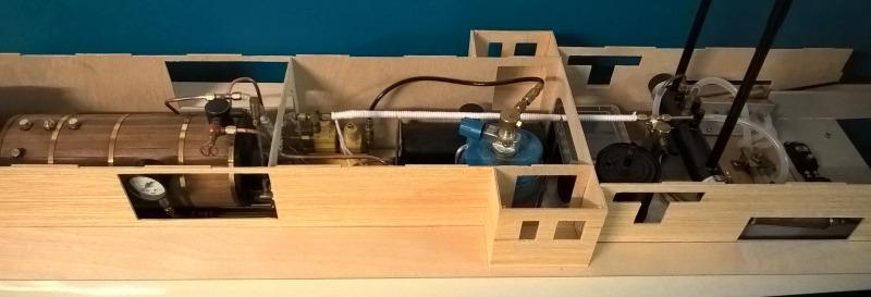 Plastik-Modellbau meets Dampfmaschine: Die Chaperon als Bausatz - Seite 2 Dampfmaschine-eingebaut-total